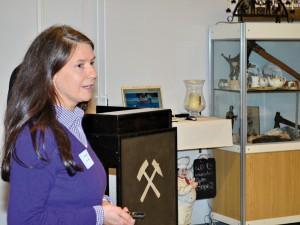 Katrin Rüdiger berichtet über die Heranführung von Hauptschülern der Goetheschule KGS an eine betriebliche Ausbildung im Rahmen der Förderung durch pro beruf.