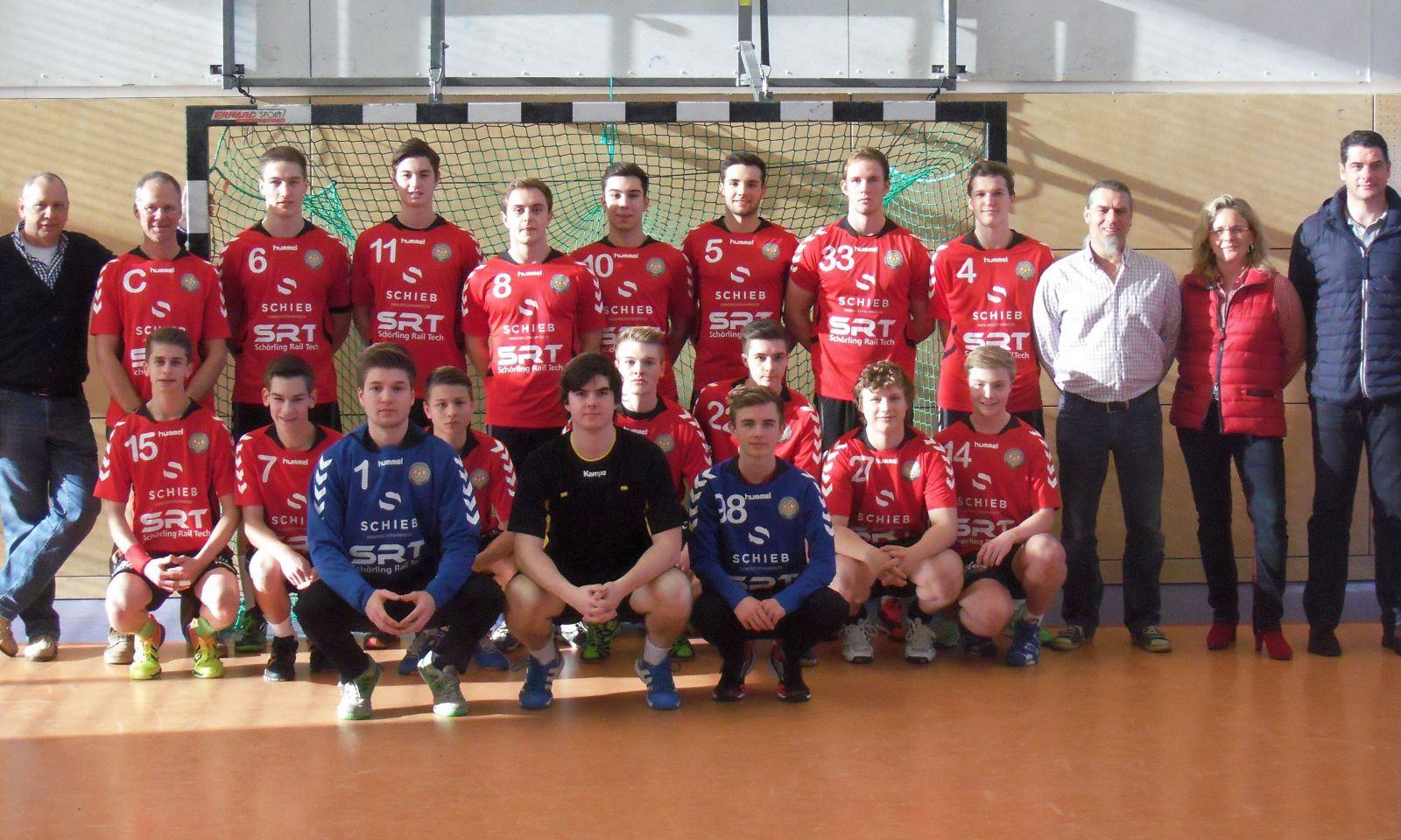 Mannschaft und Sponsoren 14-15