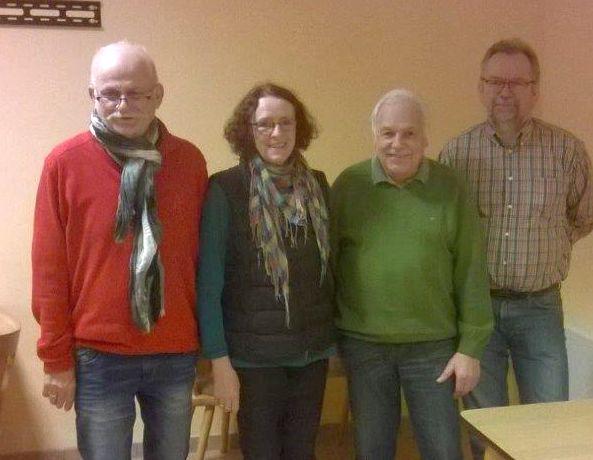 Der neue Tennisvorstand v.r. Gerhard Giesecke,Wolfgang Schmoley,Christine Wendorff und Günter Wendorf