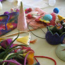 Beim NOA NOA-Workshop das Filzen von Taschen und Accessoires erlernen