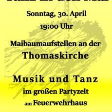 Maibaumaufstellen und Tanz in den Mai in Hohenbostel