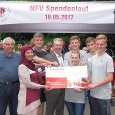 1. NFV-Spendenlauf: 750 Euro für das Flüchtlingsheim in Egestorf