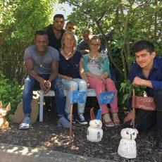 Jugendwerkstatt LABORA und Kunstschule NOA NOA töpfern gemeinsam