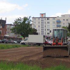 Auf der MoWi-Ausstellungsfläche soll wieder Rasen wachsen