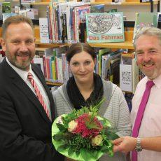 Verwaltungsspitze stellt die neue Leiterin der städtischen Büchereien vor