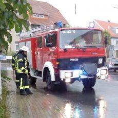 Kreuzung in Egestorf ist teilweise überflutet