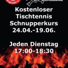 Kostenloser Tischtennis-Schnupperkurs vom TSV Langreder