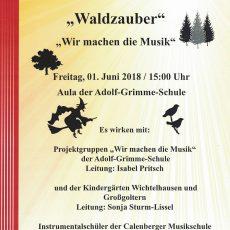 """""""Waldzauber"""": Projektgruppen der Calenberger Musikschule musizieren in der Adolf-Grimme-Schule"""