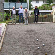 Boulisten vom TSV Kirchdorf sind auch in den Ferien aktiv