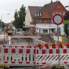 Voraussichtlich bis Ende Juli soll die Sanierung der Bahnhofstraße abgeschlossen sein