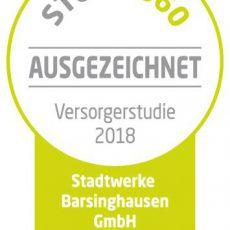 """Stadtwerke Barsinghausen werden von Versorgerstudie mit dem """"Ausgezeichnet-Siegel"""" prämiert"""