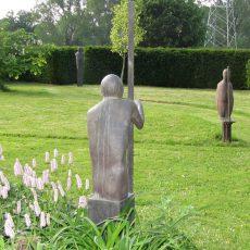 Im Garten Pristin mit dem Künstler Waldemar Otto ins Gespräch kommen