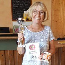 Jutta Gerber ist die Boule-Vereinsmeisterin 2018