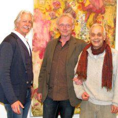 Maler Volkmar Jesiek hat schon in New York und nun auch in Barsinghausen ausgestellt