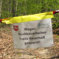 Forst baut illegale Trails der Mountainbiker zurück