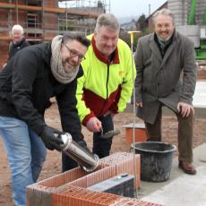 """Der Grundstein für die ASB-Krippe """"Kirchelino"""" ist gelegt"""