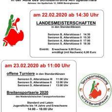 Standardtänzer ermitteln ihre Landesmeister in Barsinghausen