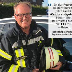 Feuerwehren und die Region Hannover weisen auf erhöhte Waldbrandgefahr hin