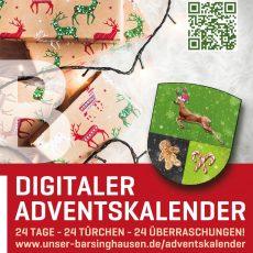 """Digitaler Adventskalender von """"Unser Barsinghausen"""": 24 Tage – 24 Türchen – 24 Überraschungen"""