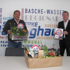 Stadtwerke danken Rohrnetzmeister Michael Basler für 40 Jahre treue Dienste