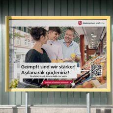 Niedersachsen wirbt mit großer Kampagne für die Corona-Impfung