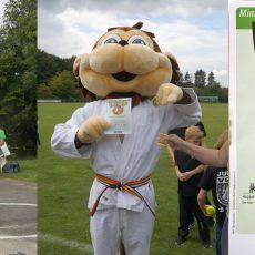 Sportfest beim VSV Hohenbostel begeistert auch das deutsche Judo-Maskottchen