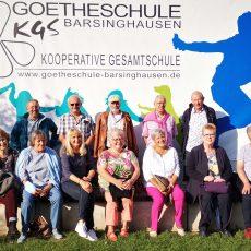 Ehemalige Realschüler feiern nach 50 Jahren bei der KGS ein Klassentreffen