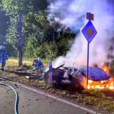 Feuerwehrbericht zum Pkw-Brand auf der B65